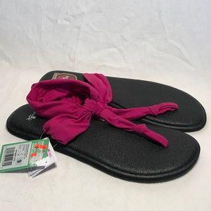 Sanuk Yoga Sling Ella Cushion Sandals Women 9, New